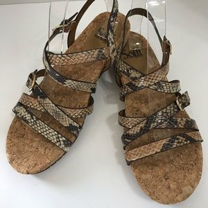 Women's Sofft Snakeskin Sandals, 7.5M